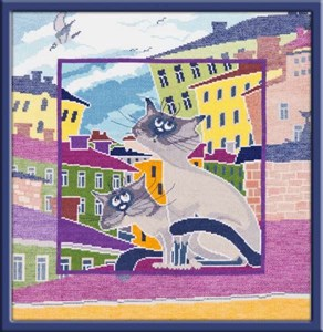 Изображение Коты на крыше 2