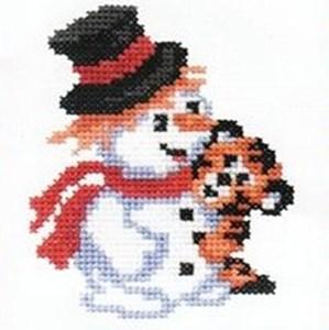 Изображение Снеговик с тигриком