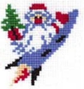 Изображение Дед Мороз на ракете