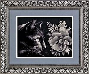 Изображение Кошка и цветок