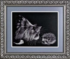 Изображение Кот и ёжик