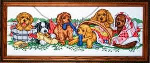 Изображение Ряд щенят (Puppy Row)