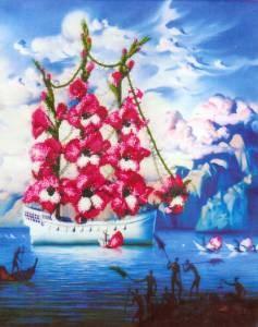 Изображение Прибытие корабля цветов В.Куш