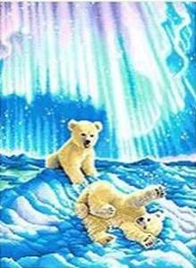 Изображение Медвежата в северном сиянии (Borealis Polar Bear Cubs)