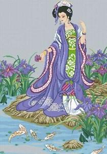 Изображение Девушка у пруда (Beauty by the Pond)