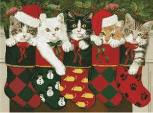 Изображение Рождественские носки с котятами (Holiday Stocking Kittens)
