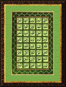 Изображение Прекрасные имена Аллаха. Панно