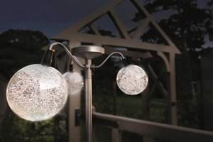 Изображение Светильник (3 элемента) на солнечной батарее Promenade H112cm