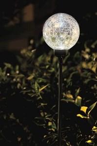 Изображение Светильник-шар на солн батарее, белый