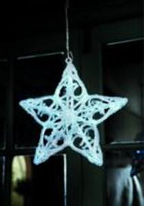 Изображение Звезда 28cm, 20 LED, для использования внутри помещений, 3 x AAA бат.