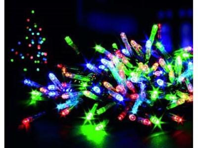 Изображение Гирлянда C 80 LED, 8 функций, разноцветная, с таймером и питанием от АА батареек