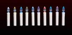 Изображение Гирлянда из 10 LED свечей 11см на клипсах, сменный цвет . Работает от АА батареек