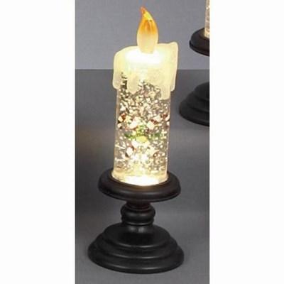 Изображение Светильник в форме свечи 19см, LED со сменой цвета, темная подставка