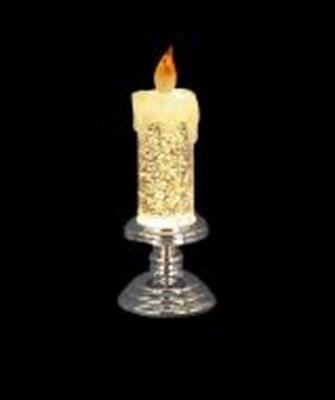 Изображение Светильник в форме свечи 19см, LED со сменой цвета, цветная подставка