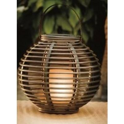 Изображение Подсвечник круглый с LED свечей 20 см x 20см  иск ротанг