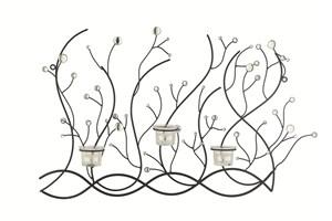 Изображение Декор настенный с подсвечниками Бусинки 60cm x 40cm x 7cm