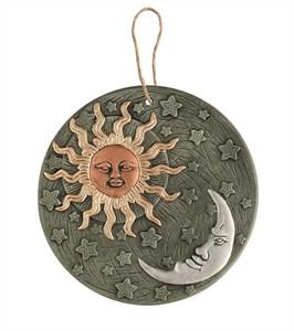 Изображение Декор настенный Солнце&Луна терракота 23cm
