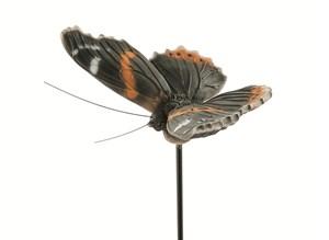 Изображение Декор садовый Бабочка Red Admiral на стержне 100cm