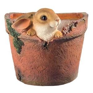 Изображение Фигура садовая 16,5см Кролик в горшке