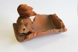 "Изображение Декор садовый-кормушка ""Белка"" 16cм"