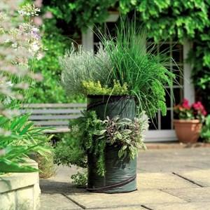 Изображение Емкость складная для выращивания зелени d30см, высота 60см
