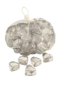 Изображение Камни декоративные стеклянные Hearts 1kg