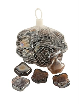 Изображение Камни декоративные стеклянные Leaves 1kg