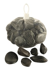 Изображение Камни декоративные черные/белые 1kg