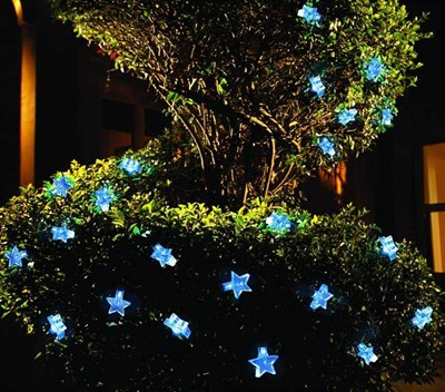 Изображение Гирлянда 30 LED звезды, на солнечной батарее, 5м