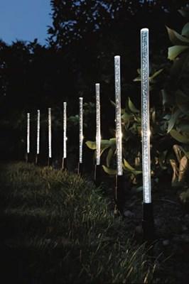 Изображение Набор светильников на солн батареях 8шт Crystal Bubble Sticks 30 * 1см