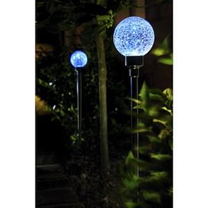 Изображение Набор светильников-шаров на солн батареях  2 шт голубой