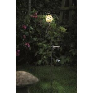 Изображение Светильник на солн батарее Бабочка, желтый шар, 13*11,5*83см