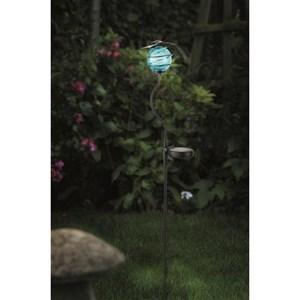 Изображение Светильник на солн батарее Стрекоза, голубой шар, 13*11,5*83см