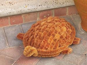 Изображение Скребок для чистки обуви Черепаха 39 х 32 х 15см, кокосовое волокно