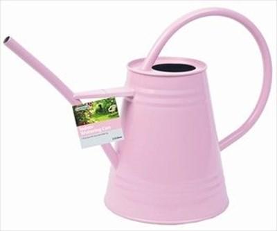 Изображение Лейка для комнатных растений 2.3 л розовая, металл