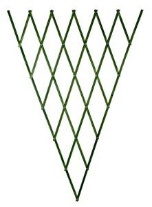 Изображение Решетка складная 1.8х0.9 зеленая, дерево фигурн