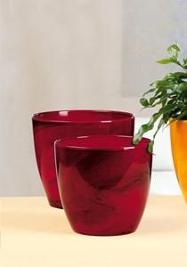 Изображение Кашпо  920 Red Marble D25см, керамика