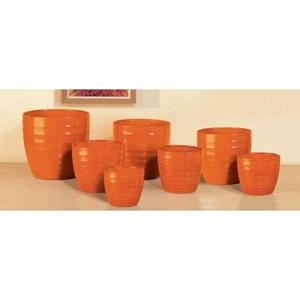 Изображение Кашпо  923 Red Orange D22см, керамика