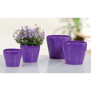 Изображение Кашпо 800 Glossy Lilac D13cм, керамика
