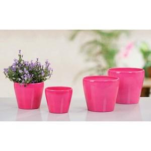 Изображение Кашпо 800 Glossy Pink D13cм, керамика