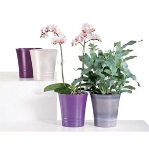 Изображение Кашпо для орхидеи 627 Violet Pearl D14cм, керамика