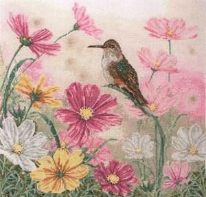 Изображение Птичка и цветы(Bird and Floral)