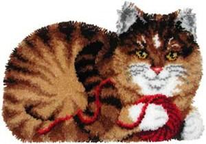 Изображение Кот с клубком (коврик)