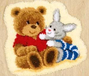 Изображение Мишка и зайка (коврик)