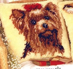 Изображение Собачка с бантиком (коврик)