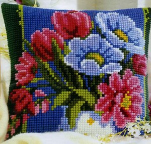 Изображение Ваза с цветами (подушка)