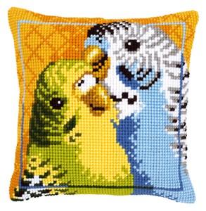Изображение Волнистые попугайчики (подушка) (Budgies)