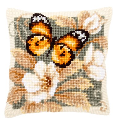 Изображение Бабочка и цветы 1 (подушка) (Butterfly and Flowers 1)