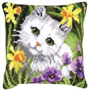 Изображение Белый кот (подушка) (White Cat)
