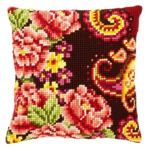 Изображение Цветы с завитушками (подушка) (Flowers with Paisley Swirl )